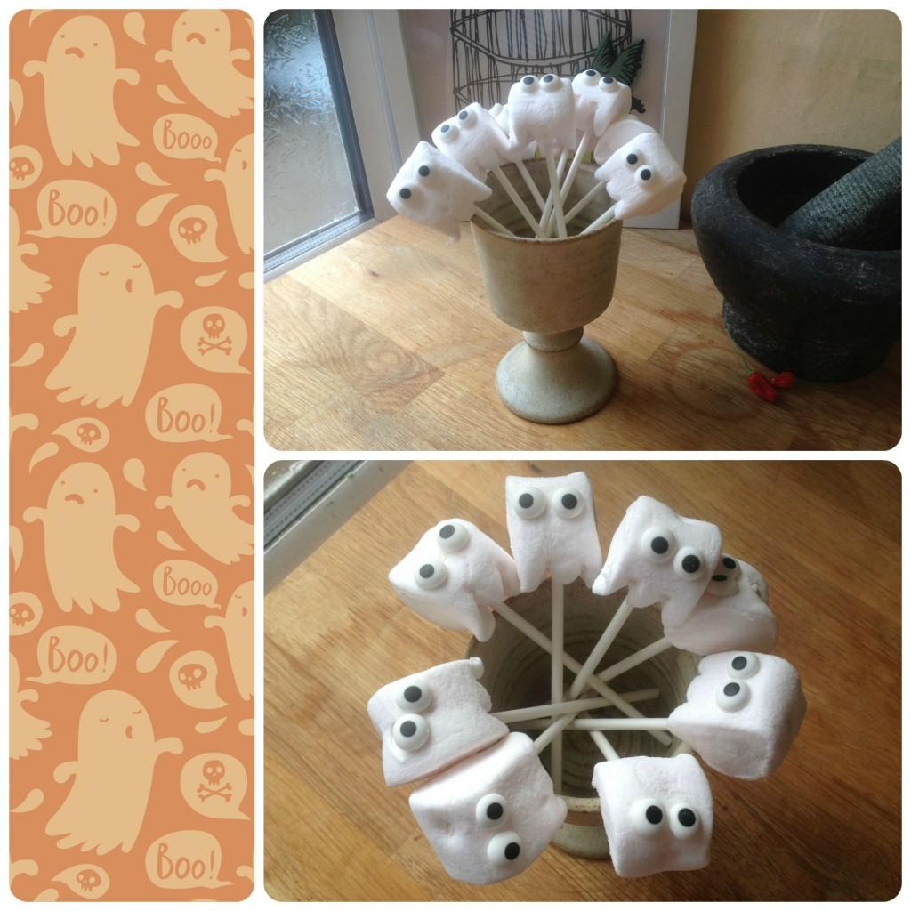 Easy Halloween Marshmallow Ghost Pops