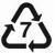 Plastic symbol 7