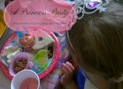 A Princess Party and review of Party Bags and Supplies