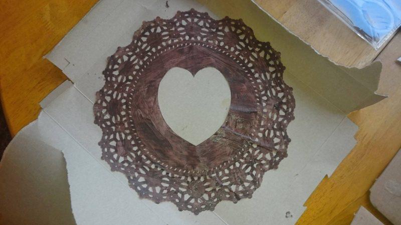 doily heart craft