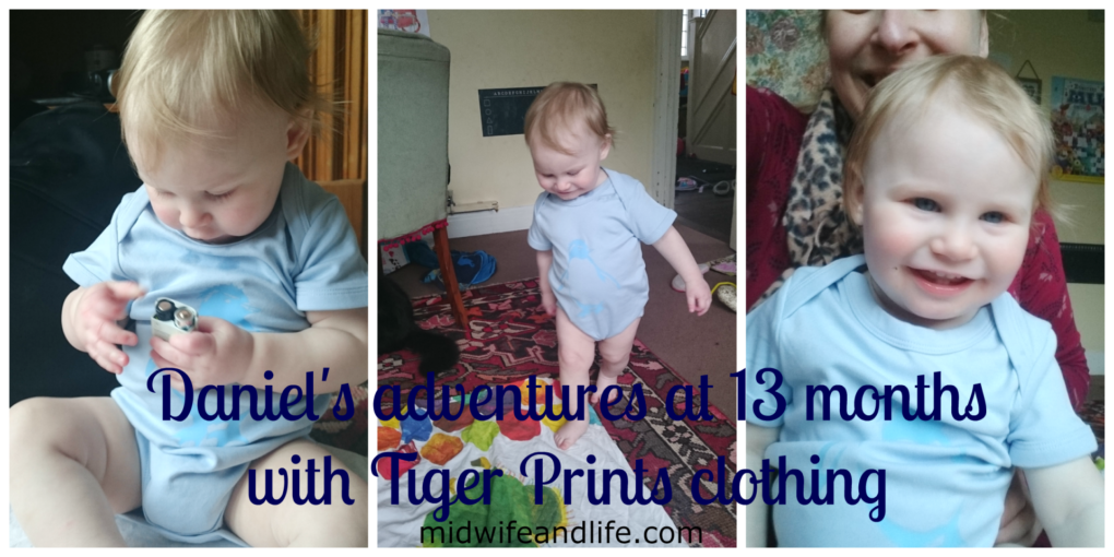 midwife and life review tiger prints clothing and an update on us at 13 months