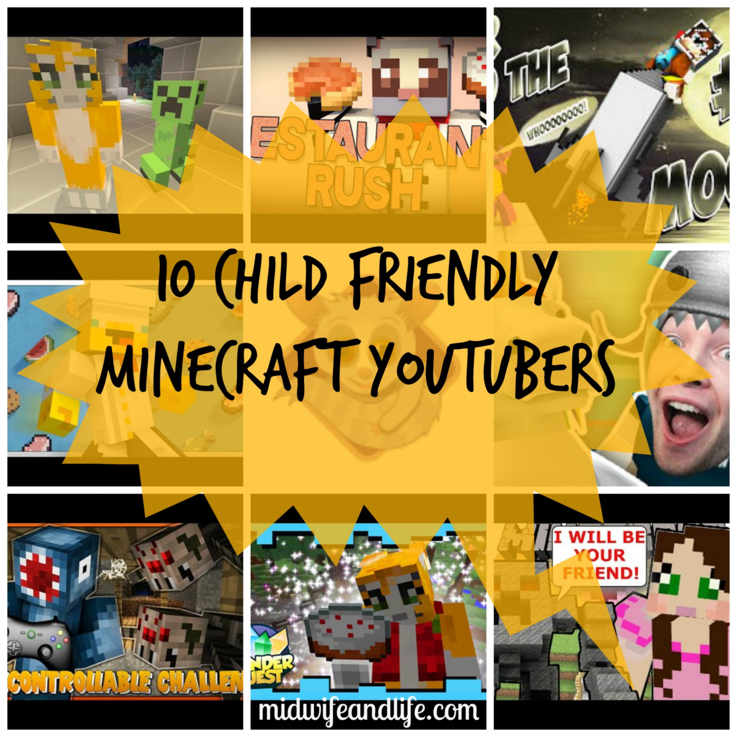 Midwife and Life - 11 Child Friendly Minecraft YouTubers you can