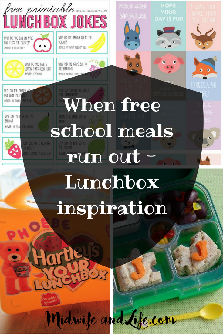 When free school meals run out - Lunchbox inspiration