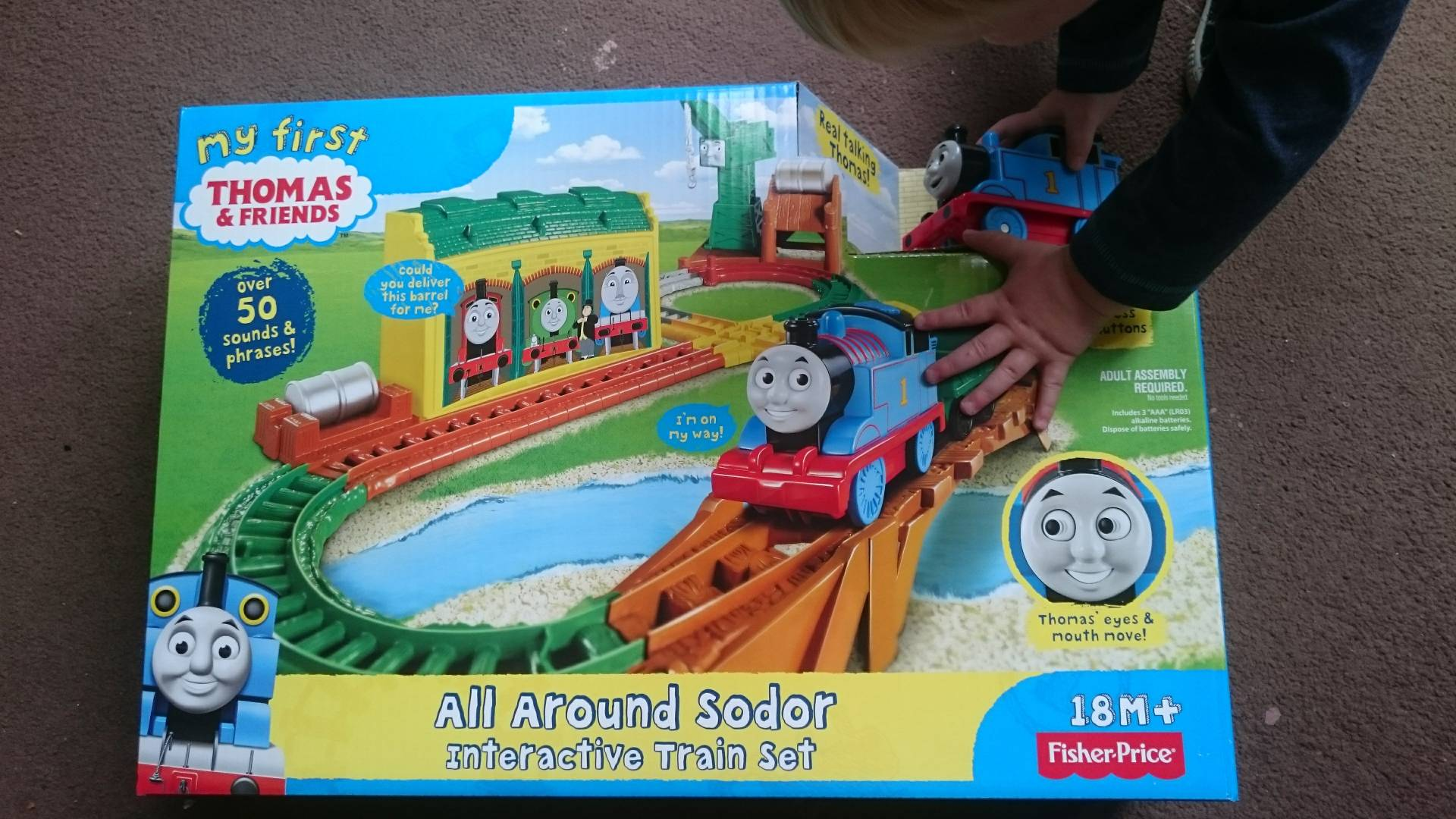 Thomas the tank engine fever hits! This is a gift worth buying, it keeps him endlessly entertained