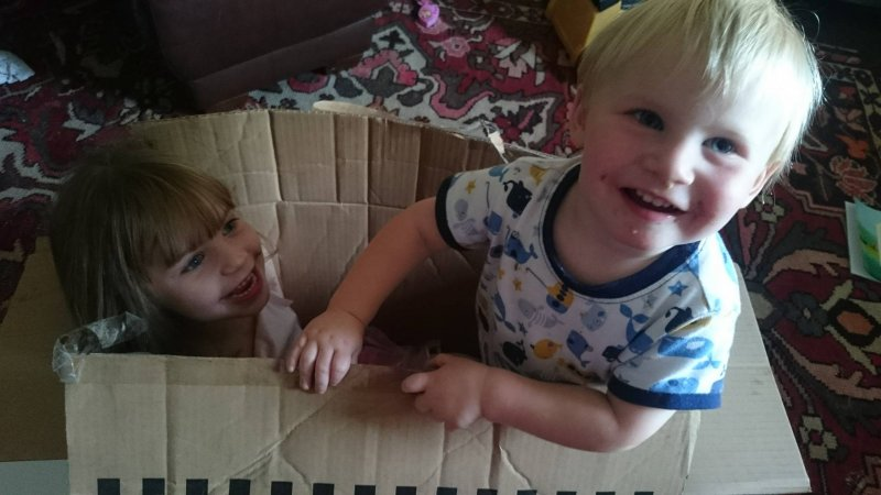money-saving-tips-family-christmas-children-playing-in-cardboard-box