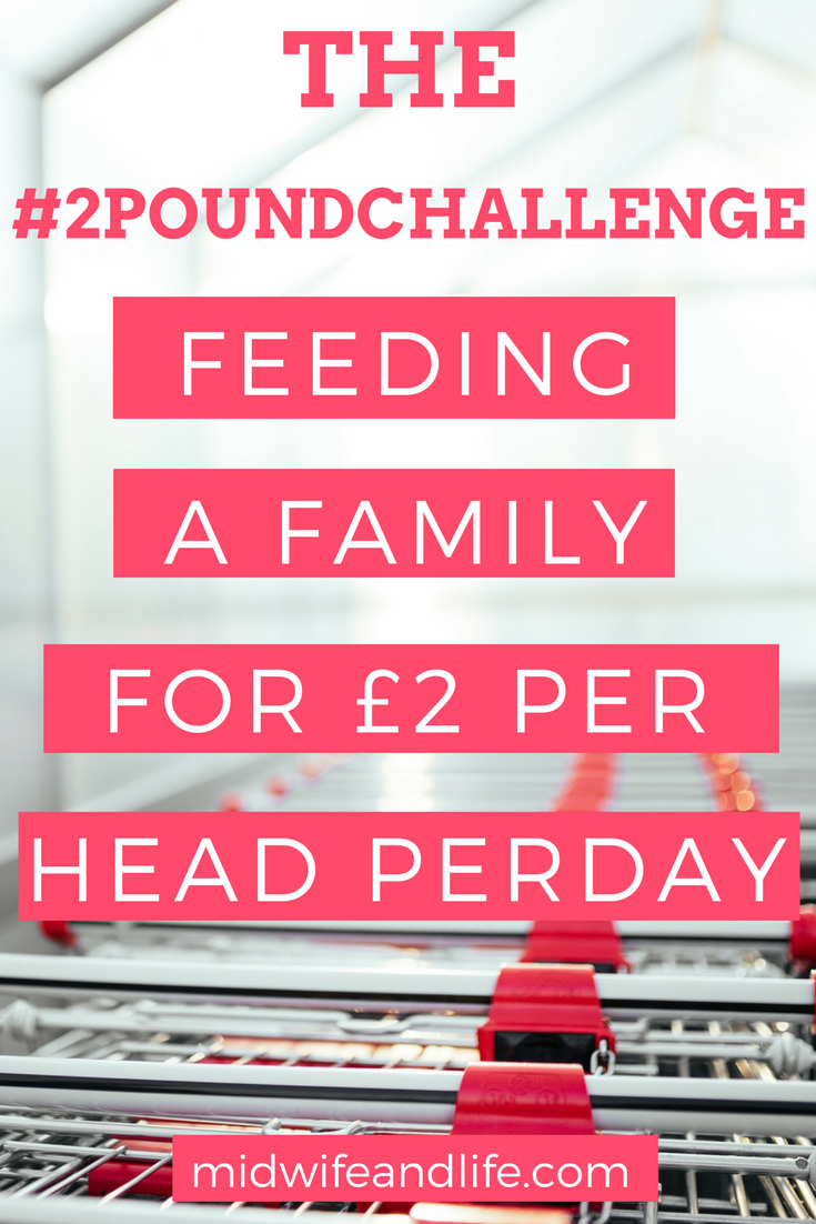 Can you feed your family for just £2 per head per day? That's the #2poundchallenge set for me - find out how we got on and read our meal plans for the day