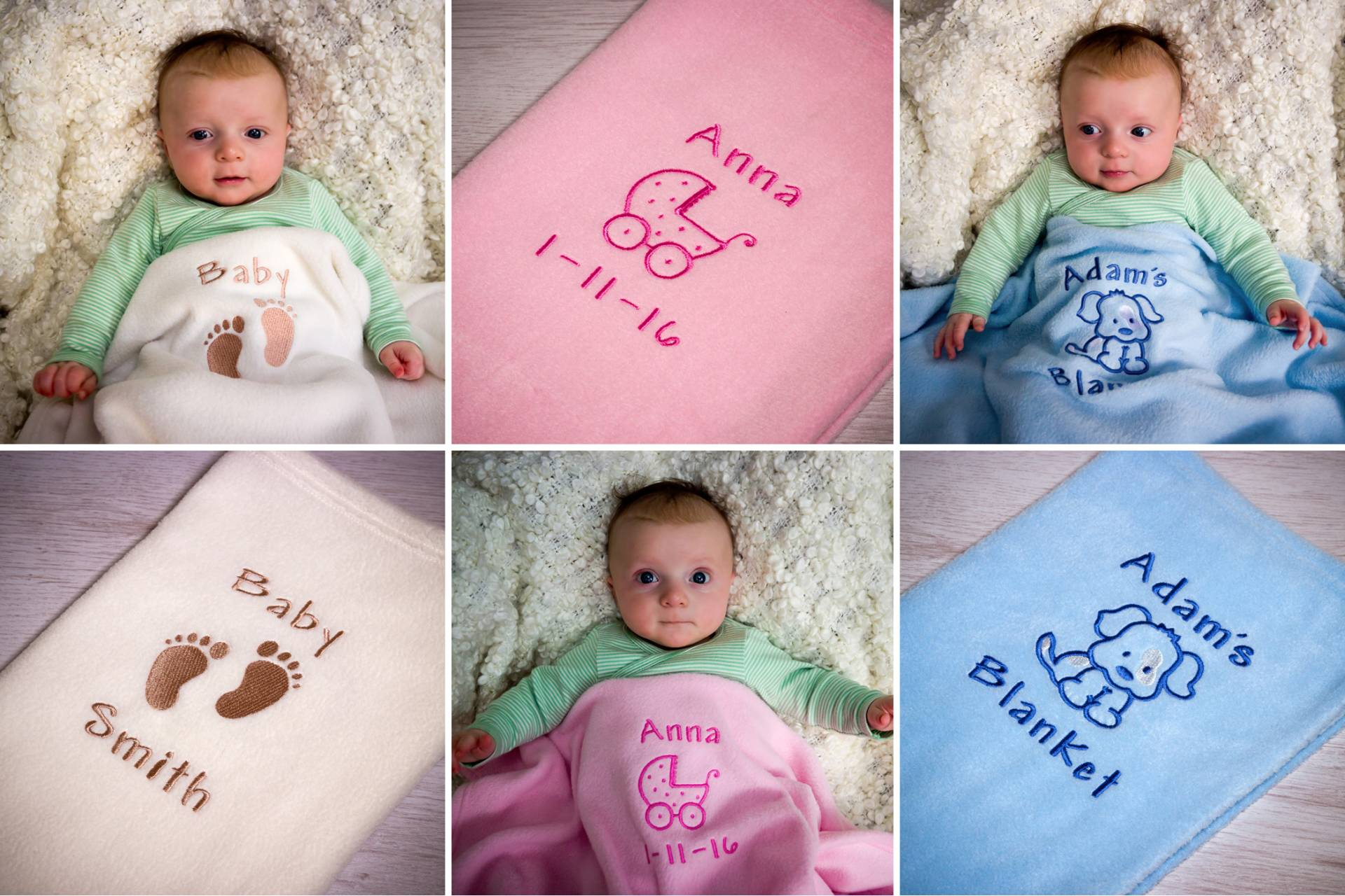 The softest, warmest personalised baby blanket makes the perfect gift for an expectant mum, or treat yourself and your little one to a present that they can treasure forever