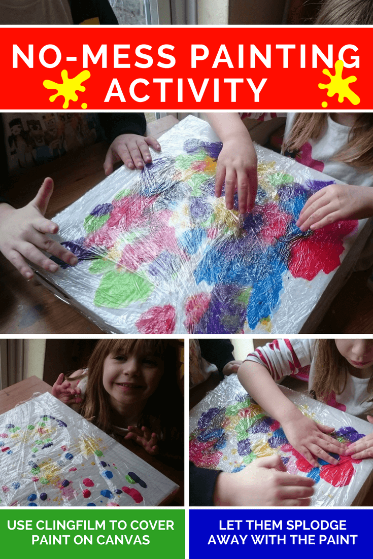 I'm a no mess fan, with a child who loves to paint. This solution is minimal effort, maximum output. Great no mess art and craft from babies onwards.