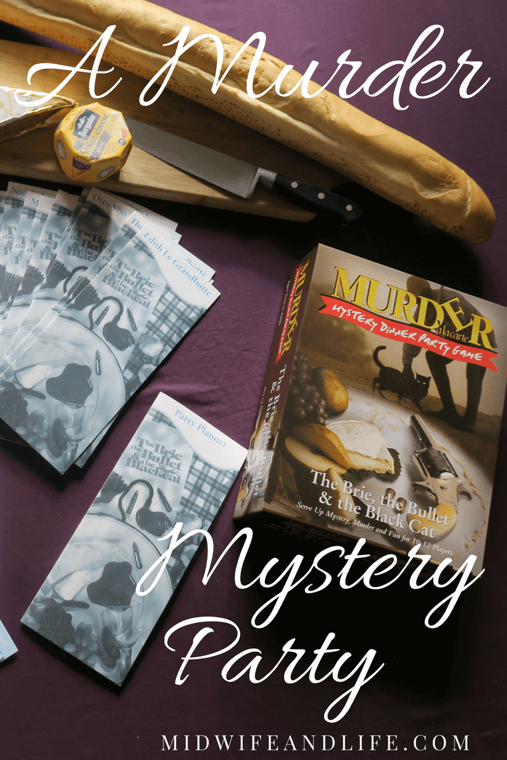 The Brie, The Bullet and The Black Cat: Murder Mystery Party & Giveaway