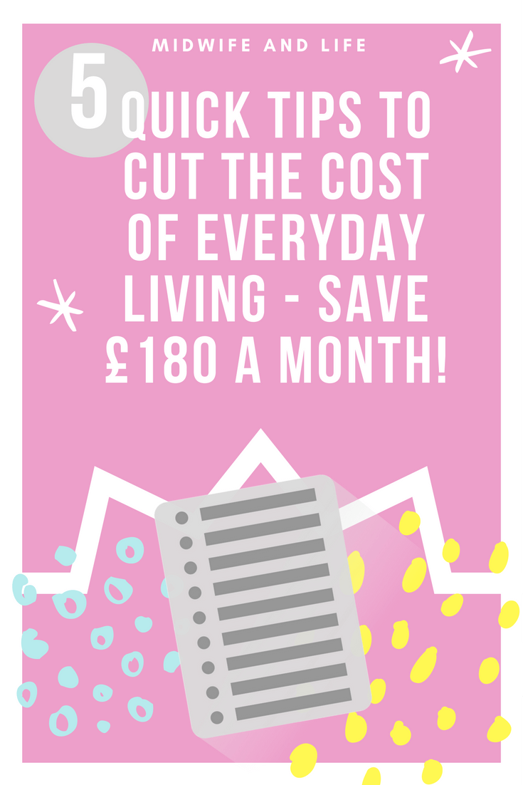 6 Quick Tips to Cut the Cost of Everyday Living – save £180 a month!