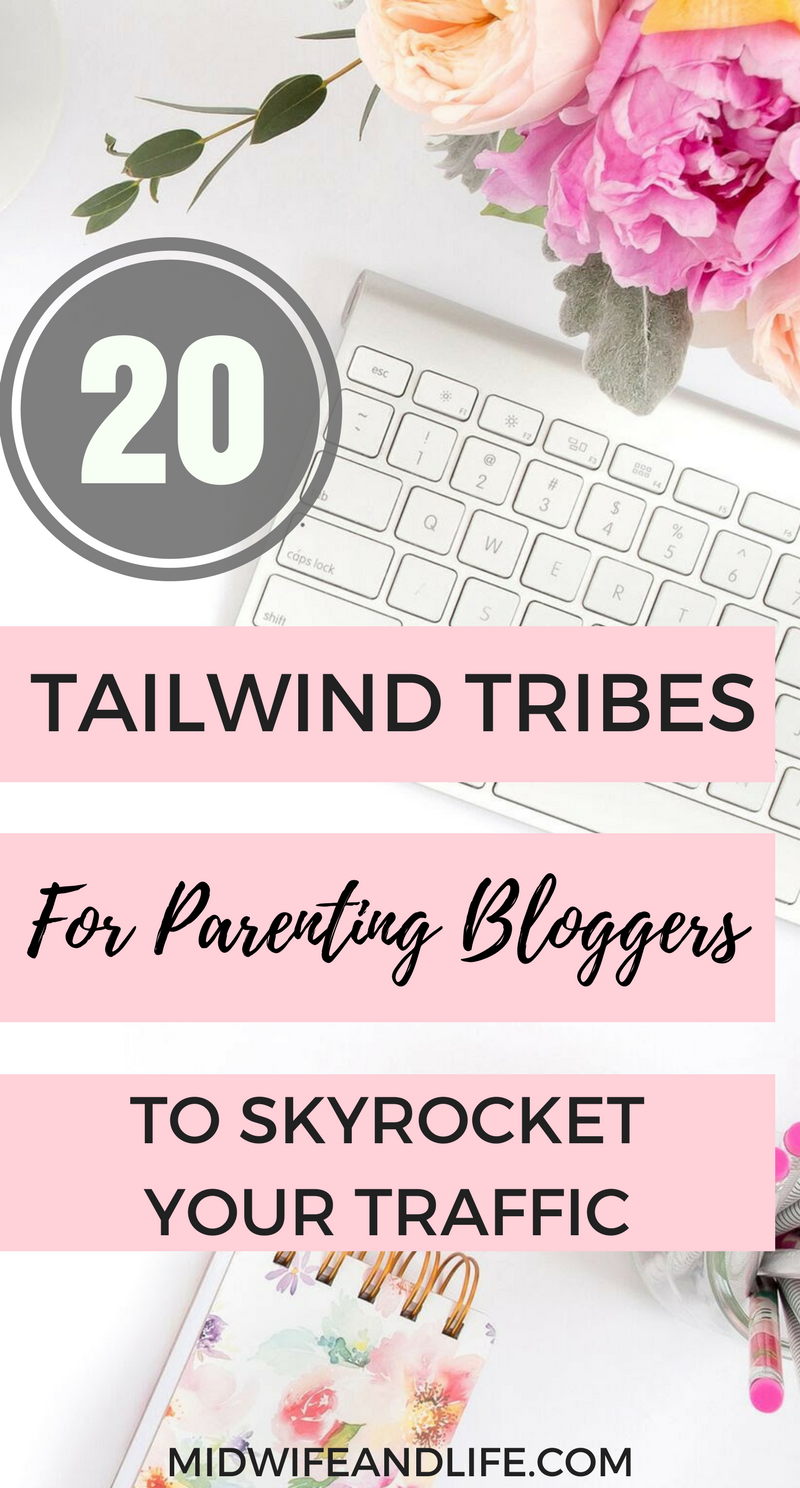 A complete list of tailwind tribes to join for the parenting blogger to really skyrocket your traffic from Pinterest. You don't need a Tailwind subscription to reap the benefits! Find out more and how to use tribes to your advantage here