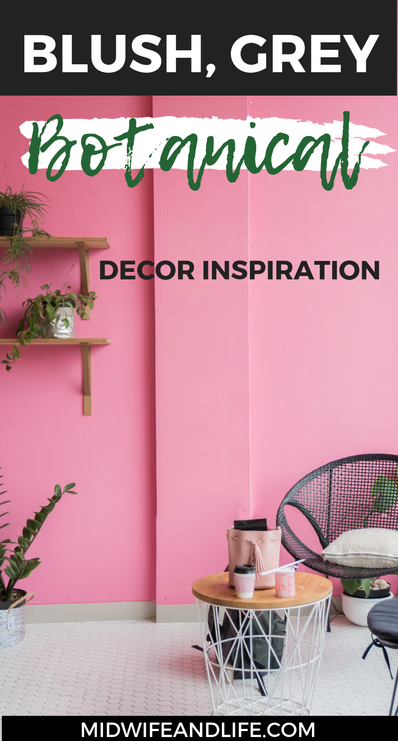 If you're looking for Inspiration and a shopping list for your blush grey copper botanical themed dining, living room or bedroom, click through for drool worthy finds to complete the look. From prints to mugs it's all here #blush #grey #botanical #copper #decor #inspiration #ideas