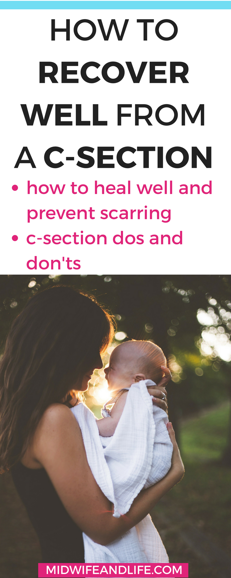 Are you planning on a c-section birth? Or had an emergency c-section? Get the ultimate guide to healing, scar protection, what you can and can't do, how to recover well from a caesearean section