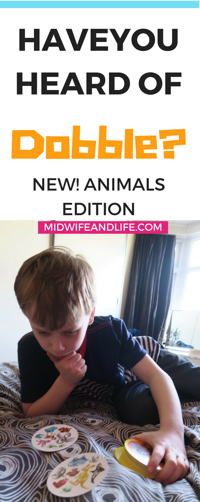 Have you played the simple, fun, fast paced kid's card game Dobble? There's an animal version out now which is super popular! We tried it out you can read more by clicking through this pin