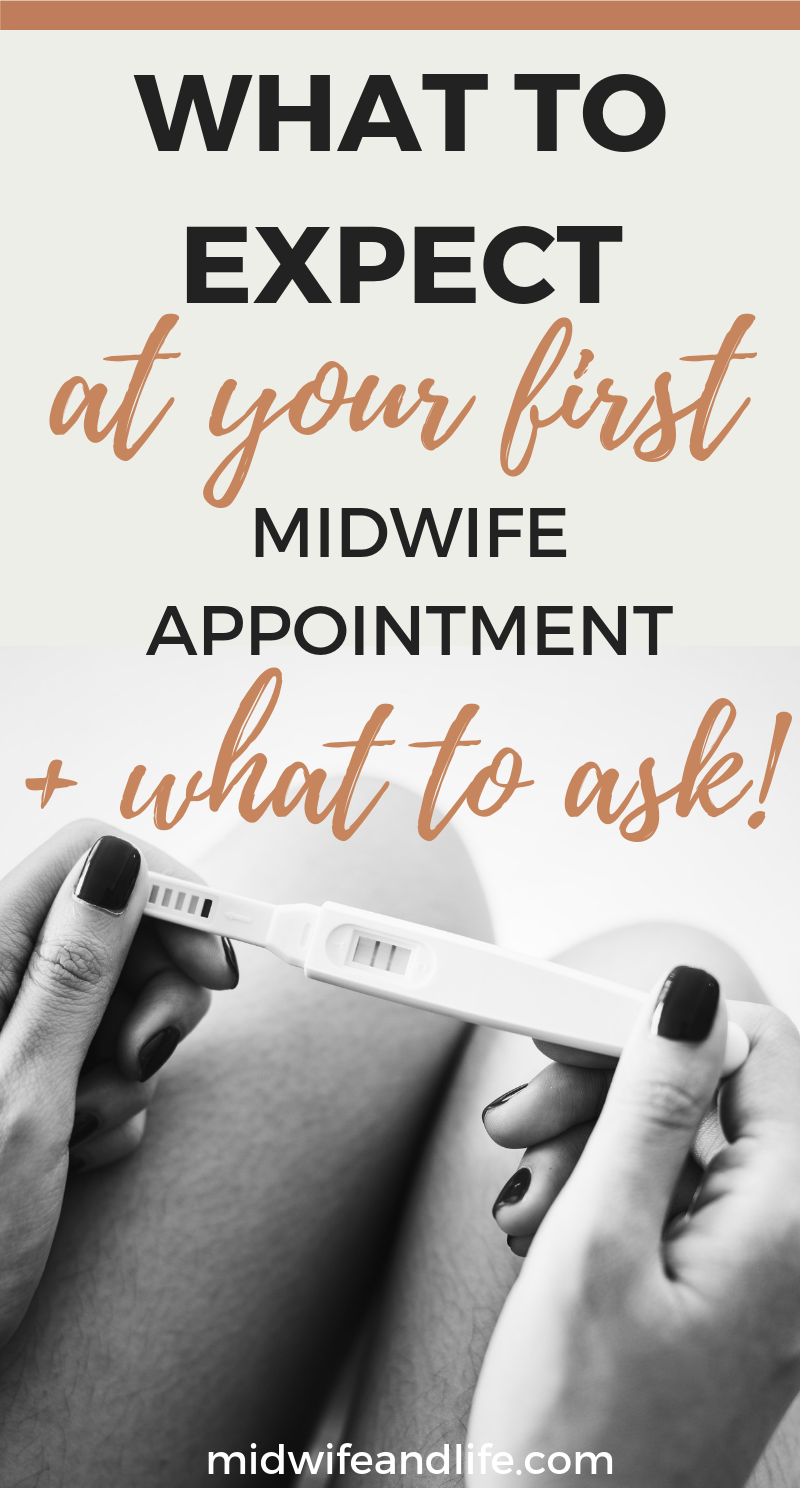 What happens and what to expect at your first Midwife appointment, also known as the booking appointment. Written by a UK Midwife, it's all you need to know to be prepared, plus important questions you should ask. #pregnancy #pregnant #midwife #midwifeappointment #firstmidwifeappointment #bookingappointment