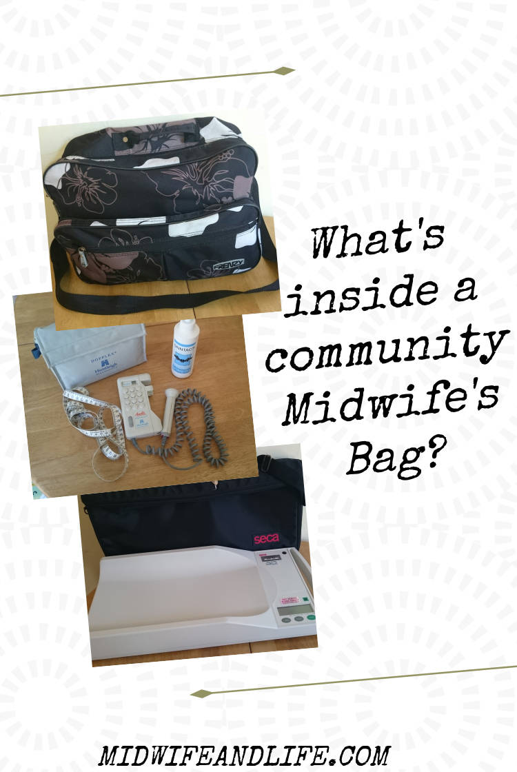 Ever wondered what a community Midwife carries around in their bag? It's all laid bare here for you, is it what you thought? #midwife #communitymidwife #midwifesbag #whatsinside