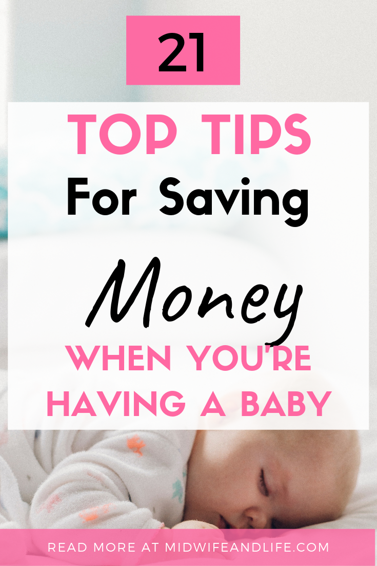 Babies are expensive, but don't freak out, there are plenty of ways to save money when you're having a baby, check out this article on 21 top tips on saving money when you're having a baby! #moneysaving #baby #pregnancy #freebies #tips #tricks