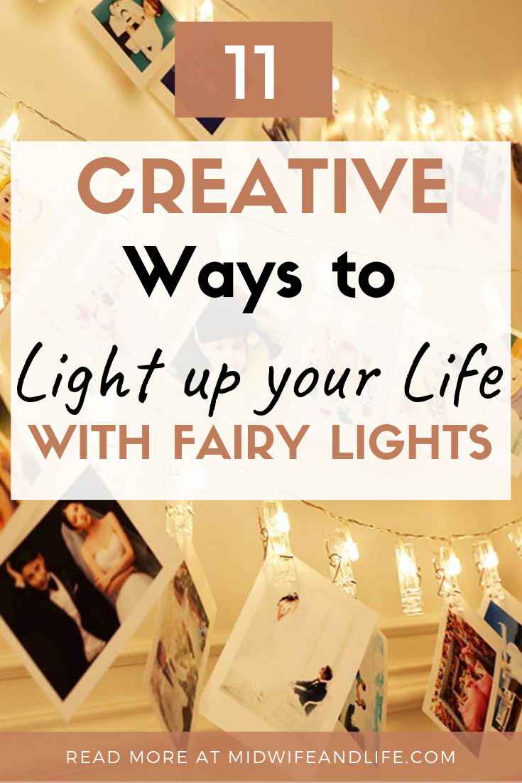 Don't just save fairy lights for Christmas, try these alternative creative ways to use your fairy lights! #fairylights #stringlights #lights #batterylights #outdoorlights