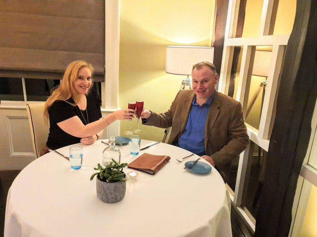 couple at the table in Thackeray's Tunbridge Wells