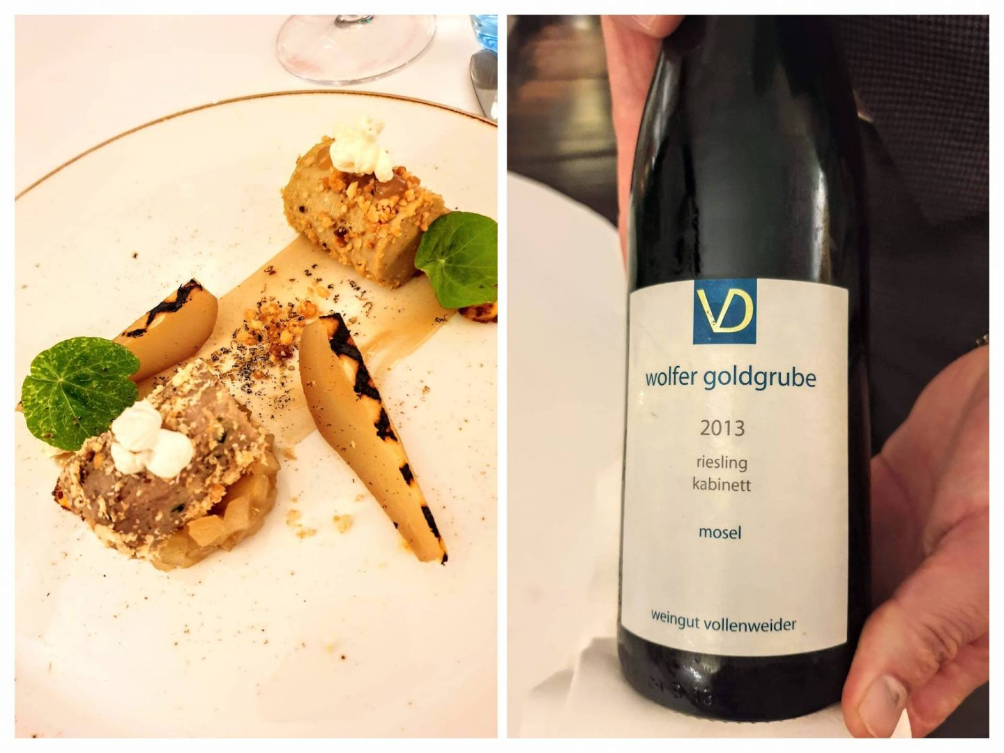 fois gras and accompanying wine Thackeray's