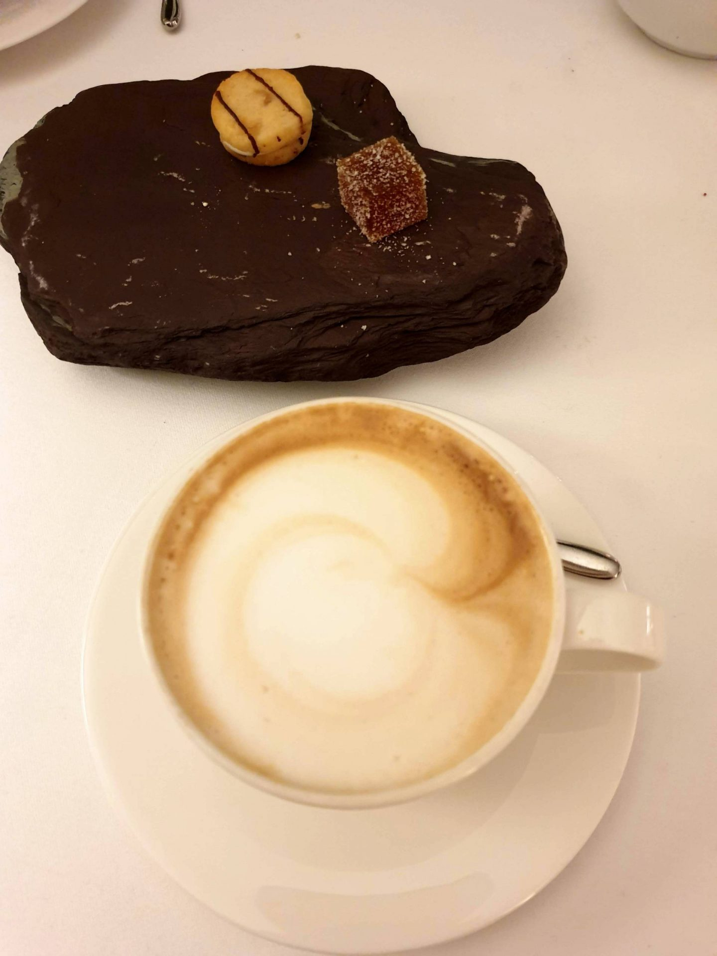 petits fours and coffee